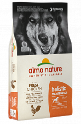 Сухой корм для собак крупных пород Almo Nature Holistic Adult  Large Dog с курицей